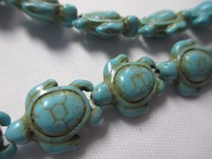 A personal favorite from my Etsy shop https://www.etsy.com/listing/174564956/turtle-blue-turquoise-23-beads-thick