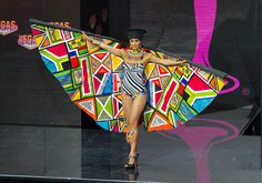 2013 Miss Universe National Costume Show -- Miss South Africa - Marilyn Ramos: Ramos modeled the vibrant textures and colors of her home country with fanfare, although doesn't this number make you a little dizzy? Credit: Darren Decker/Miss Universe