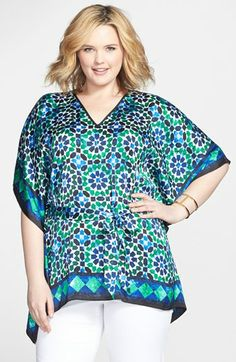 MICHAEL Michael Kors Print Flutter Sleeve Top (Plus Size) available at #Nordstrom