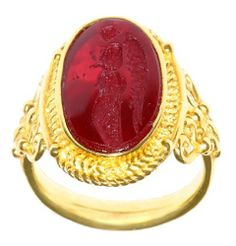 Tagliamonte 14k Yellow Gold Red Venetian Glass Ring, Size 7 Amazon Curated Collection. $999.00. Made in Italy