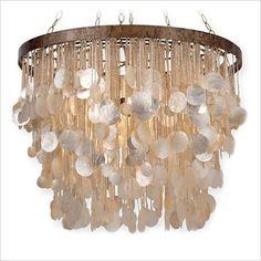 Canvas Interiors Capiz chandelier light