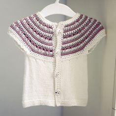Crochet and knit PATTERN (pdf file) - Sleeveless Cardigan