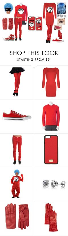 """Cute Couple costume #7"" by foxykitty-1 ❤ liked on Polyvore featuring Leg Avenue, WearAll, Converse, Fila, Dolce&Gabbana, BERRICLE, Joseph and Bloomingdale's"