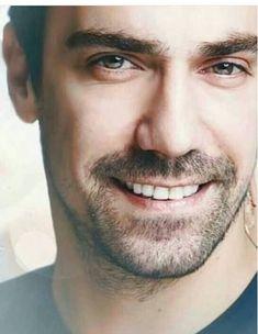Turkish Men, Turkish Beauty, Turkish Actors, Black And White Love, Dark Eyes, Dimples, Gorgeous Men, Veronica, Couple Goals