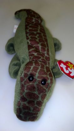 abd7862cff3 Ally the Alligator 1993 Original Ty Beanie Baby Rare Collectible Mint  Condition Reptile Crocodile Hunter Swamp People Collector Gator gift
