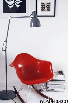 Via AprillAprill | Eames Rocker | Red and Grey