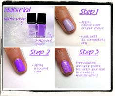 Nailderella: Saran wrap nails