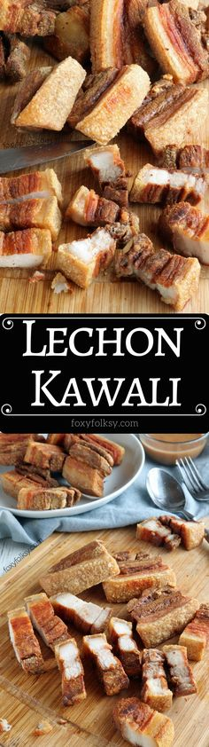 Get recipe now for this all-time Filipino favorite dish, Lechon Kawali! Deliciously crunchy in every bite! |www.foxyfolksy.com