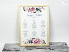 Boho wedding table board Tablica plan stołów w stylu Boho