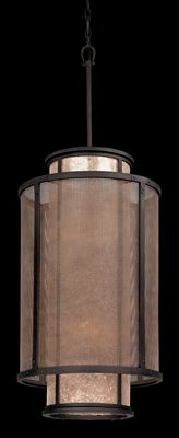 F3103   Copper Mountain 8 Light Pendant (Medium), Nice Mica And Wire