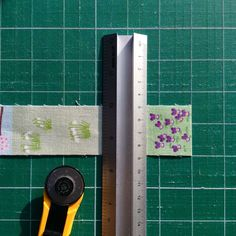 3. Cut fabric strips into rectangles