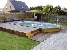 piscine en bois hors sol enterrée