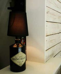 Luz decorativa con botella reutilizada #gin #hendricks #iluminación #reciclaje