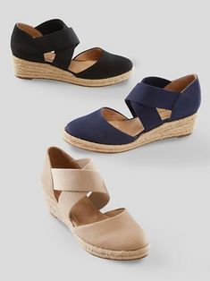 Lifestride® Keaton Espadrille Wedge - Appleseed's Comfortable Shoes, Barefoot, Casual Shoes, Espadrilles, Slippers, Product Launch, Loafers, Slip On, Wedges