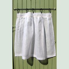 Custom White Linen Curtain French Kitchen by LinenandLetters on Etsy