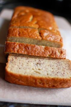 Buttermilk Banana Bread  -- This recipe is one of the nearest and dearest recipes to our family -- buttermilk makes it extra moist, as does the baking method. Once you make it, you'll never make another banana bread again.