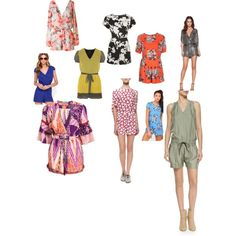 Rompin Rompers by theyoungcontemporary on Polyvore featuring polyvore, fashion, style, Matthew Williamson, rag & bone, Anna Sui, Diane Von Furstenberg, Parker and Motel