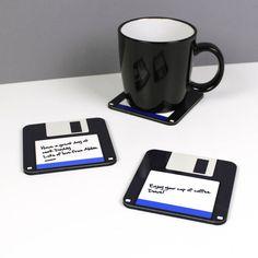 Geeky Floppy Disc Coaster
