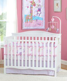 Look at this #zulilyfind! Pink Pretty Pals Nursery Set by Summer Infant #zulilyfinds