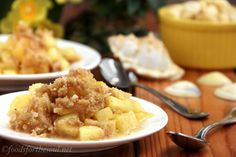 piña colada crumble - all a coconut flour or almond flour and you'd have a great treat!