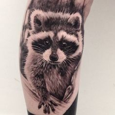 Amazing Raccoon Tattoo by Ash Lewis