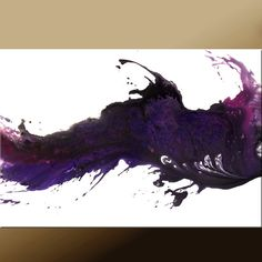 "Purple Abstract Art Painting -36"" Original Modern Contemporary Art by Destiny Womack - dWo - Whisper-"