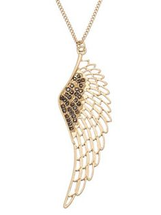 accessorize angel wing long pendant necklace £9