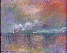 Claude Monet - Charing Cross Bridge, Smoke in the Fog, 1902