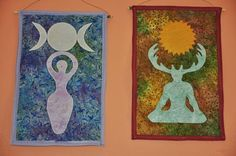 An example of deity banners to hang above your altar.  Making something like this is on my 'to-do' list.