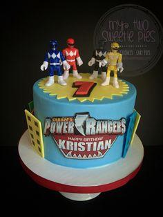 Power rangers Tortas Power Rangers, Bolo Power Rangers, Power Rangers Birthday Cake, Power Ranger Cake, Pawer Rangers, 6th Birthday Parties, 4th Birthday, Celebration Cakes, Birthday Celebration