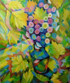 Картины цветов ручной работы. Ярмарка Мастеров - ручная работа. Купить Не то листва, не то струя -- II. Handmade.