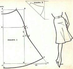 แพทเทินกระโปรง Sewing Patterns Free, Sewing Tutorials, Clothing Patterns, Sewing Hacks, Sewing Studio, Pants Pattern, Sewing Clothes, Diy Clothes, Dressmaking