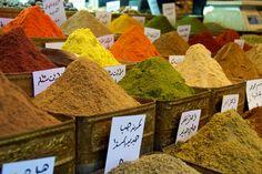 color, damascus grand, travel, grand bazaar, spices