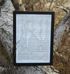 Paper Dimensions, Linocut Prints, Line Art, Giveaway, Best Gifts, Ink, The Originals, Handmade Gifts, Frame