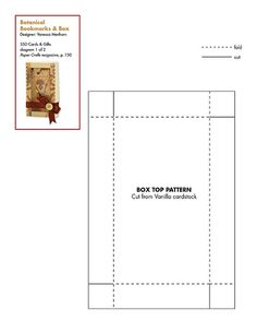350 Cards & Gifts Patterns | 350 Cards & Gifts | Paper Crafts  magazine:  pdf or jpeg Bookmarks in a Box gift pattern + tutorial.  349 other cards, gifts, and decor patterns and tutorials free!!