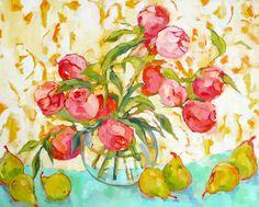 Pink Peonies, Beth Munro - 22 x 28. #floral #botanical #art