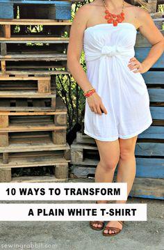 10 maneras de transformar una camiseta blanca llanura