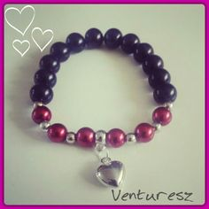 Red & Black Pearl Bracelet