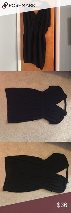 BCBG black v-neck dress, Size L BCBG black v-neck front and back dress.  Length is right above the kneecap. New without tags. Great condition, never been worn! BCBGeneration Dresses