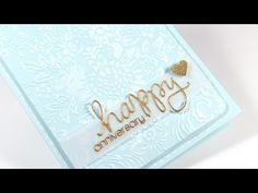 """MACM - Happy Anniversary Card - Using die & stamps set """"Happy Sentiments"""" from Simon Says"""