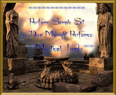 MYSTICAL LANDS PERFUME Oil Sample Set of by DeepMidnightPerfumes, $8.00