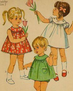 Vintage Toddler Summer Dress and Panties Sewing Pattern $15.00