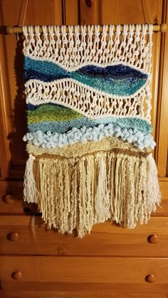 Carpet Runners For Hall Ikea Diy Carpet, Rugs On Carpet, Carpets, Large Macrame Wall Hanging, Weaving Projects, Craft Projects, Macrame Art, Cheap Carpet Runners, Tapestry Weaving