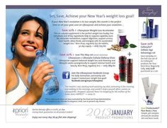 Jump start January with weight loss at Apriori Beauty! Several ways to save -www.useloveshare.com/fic/Natalie/specials