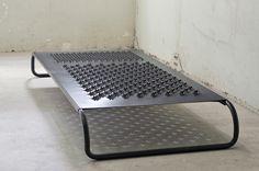 Mona Hatoum / Dormiente 2008 / mild steel / 10 5/8 x 90 1/2 x 39 3/8 in/27 x 230 x 100 cm