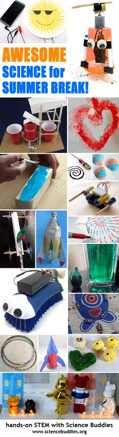 Super #science, #technology, #engineering, and #math activities that kids can do at home during summer break. #STEM roundup. [Science Buddies, http://www.sciencebuddies.org/blog/2016/06/your-guide-to-science-activities-for-summer-break.php?from=Pinterest] #scienceproject #summerscience
