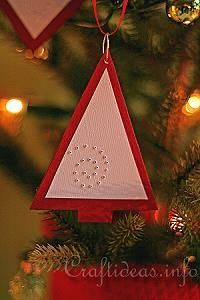 Red Tree Paper Ornament 2