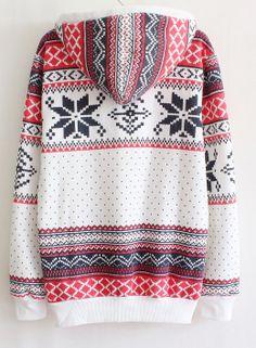 Nordic print hoodie