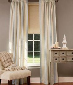 French Ticking Rod Pocket Curtains Was: $59.95 - $119.95                         Now: $47.96 - $95.96