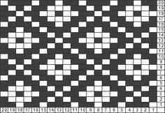 Tricksy Knitter chartmaker - Tricksy Knitter Charts: pattern idea 3 by diane - Intarsia Knitting, Intarsia Patterns, Tapestry Crochet Patterns, Fair Isle Knitting Patterns, Needlepoint Patterns, Knitting Charts, Weaving Patterns, Mosaic Patterns, Embroidery Patterns